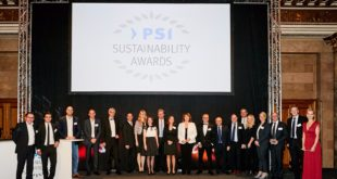 The winners of PSI's 2017 Sustainability Awards announced