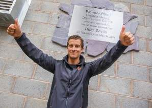 Regatta Group's new global distribution centre is opened by Bear Grylls