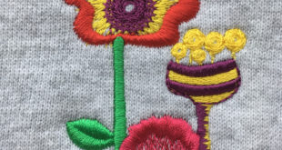 Embroidering onto knitwear with confidence