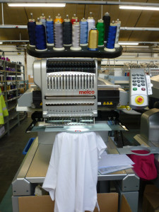 The Melco embroidery machine