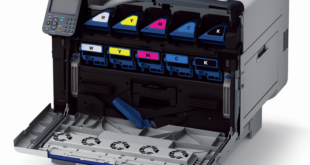 Expand your print capabilities with Oki's new Pro9541WT 5-colour digital toner transfer media printer