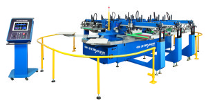 M&R introduces the Stryker automatic oval screen printing press