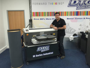 Ramon Sala with one of DTG Digital's printers