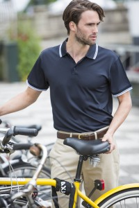 H482 Tipped Short Sleeve Polo shirt