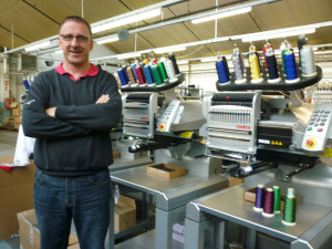Kevin Chapman, embroidery supervisor